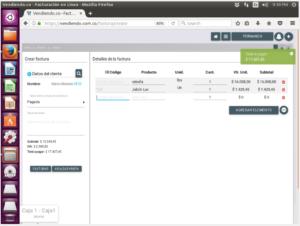 Facturando en Software POS en linux