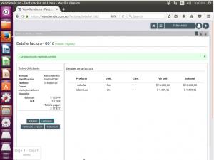 Pagando Factura en Software POS en linux