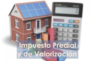 Impuesto predial y Valorización