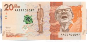 Identificar billetes falsos de 20000 pesos