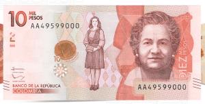 Identificar billetes falsos de 10000 pesos