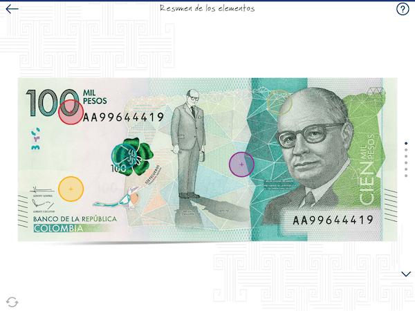 Elementos constitutivos del billete - Identificar billetes falsos