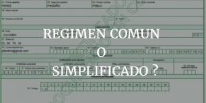 Régimen común y simplificado