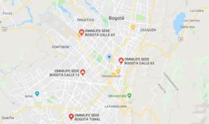 Omnilife en Bogotá, Medellín, Cali