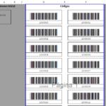Area de impresión codigos de barras en Excel