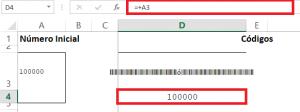 Celda código númérico