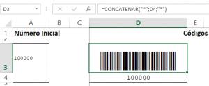 Fórmula para el código de barras
