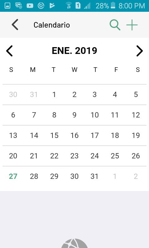 Calendario de eventos del negocio
