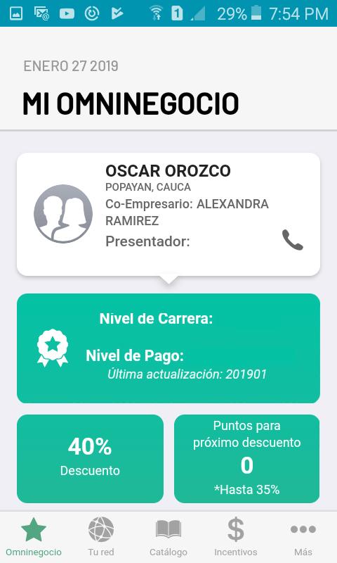 Datos del empresario OmniNegocio