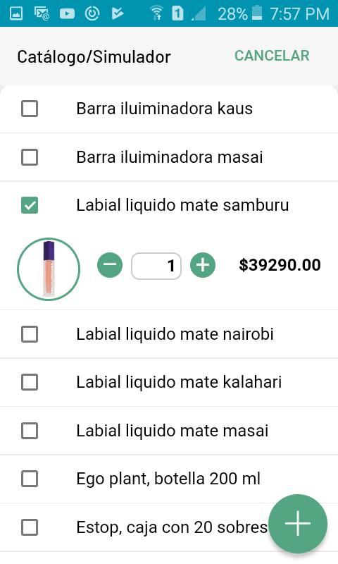 Simulación de venta de productos