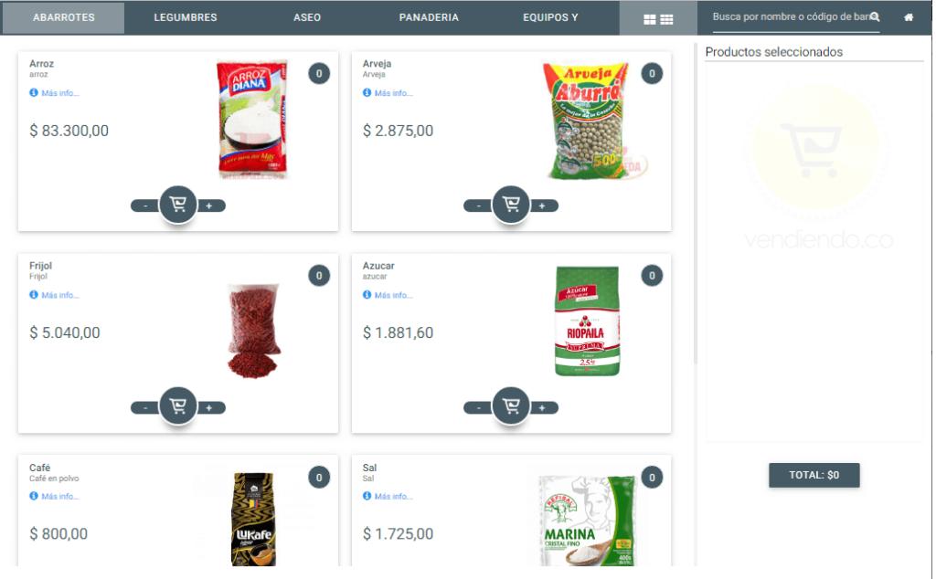 Facturación táctil - Software POS - vender en el punto de venta