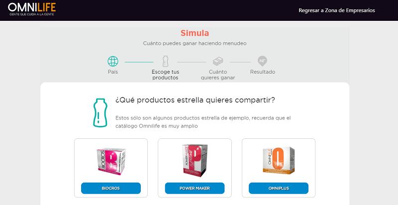Simula de ingresos en Omnilife