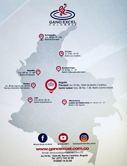 Oficinas Gano Excel Colombia
