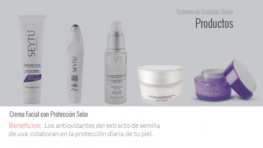 Crema facial protección solar SEYTU