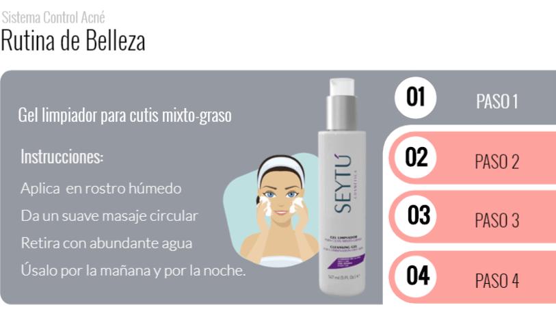 Paso 1 rutina anti acne seytu