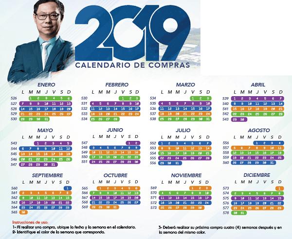Calendario de recompra Gano Excel 2019
