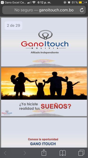 Presentación del negocio Gano iTouch