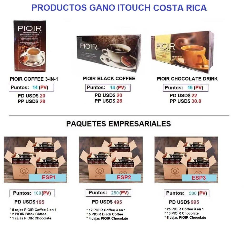 Precios Gano iTouch Costa Rica