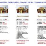 Paquetes empresariales Gano Excel Colombia 2020