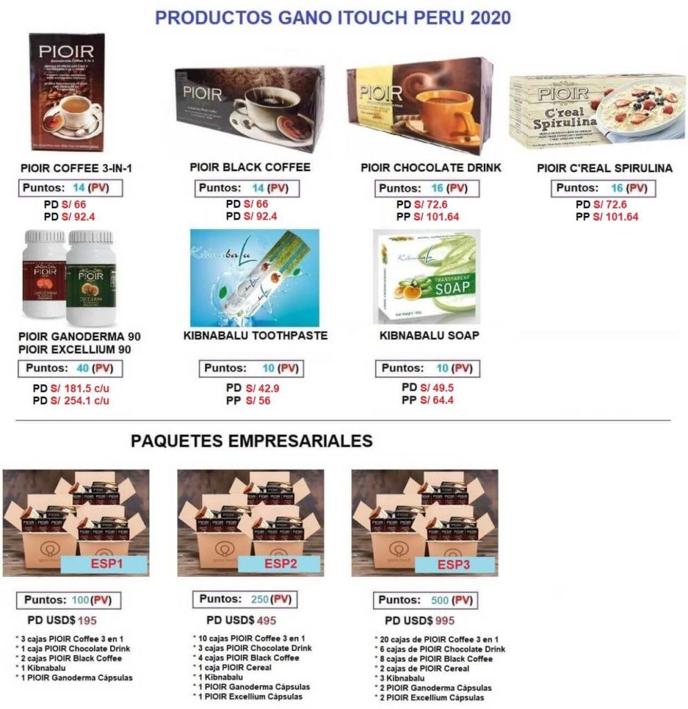 precios Gano itouch perú