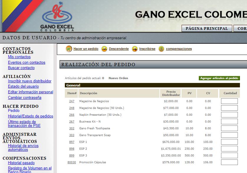 Compras en contingencias por coronavirus - Gano Excel Colombia