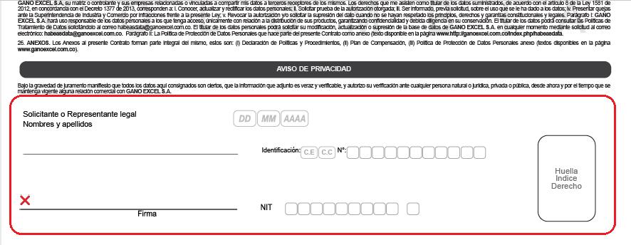Información página 1 contrato vinculación GE