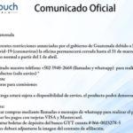Contingencia Gano iTouch Guatemala:  Afiliaciones y compras durante emergencia nacional