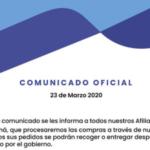 Contingencia Gano iTouch Panamá por pandemia coronavirus