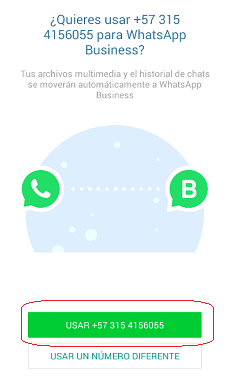 Número telefónico WhatsApp Business