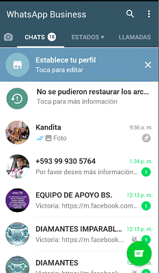 Nuevo WhatsApp Business