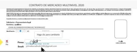 Firma Electrónica del documento