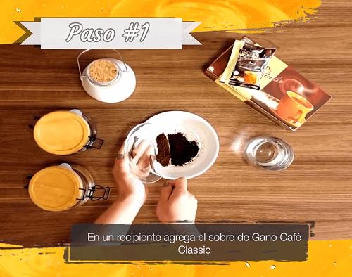 Gano Café Cremoso Paso 1