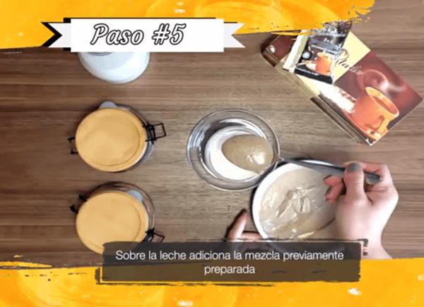 Gano Café Cremoso Paso 5